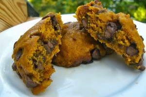 Pumpkin Chocolate Chip Cake Drops (Cookies)