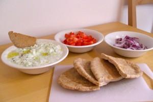 ingredients to stuff the pitas