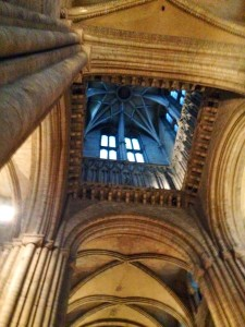 ceiling in durham cathedral