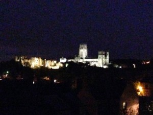 durham skyline at night
