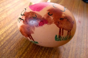 decorating the eggs