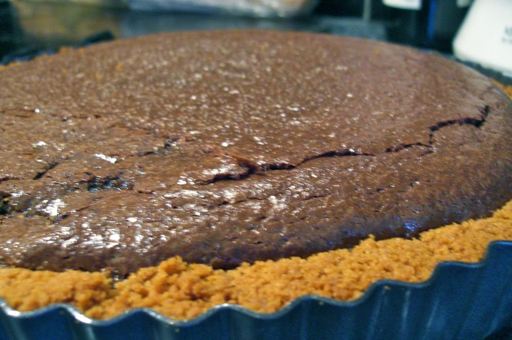 Dark Chocolate Tart with Gingersnap Crust - Rhyme & Ribbons