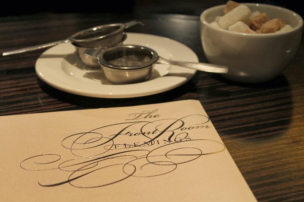 the tea menu
