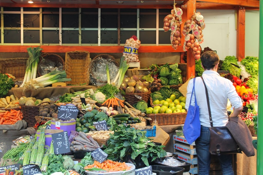 browsing vegetables in borough market