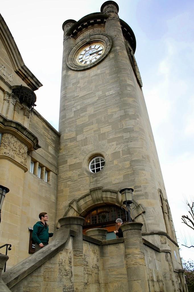 sam at the clock tower