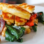 Spiced Chickpea Salad with Halloumi