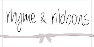 Rhyme & Ribbons Blog