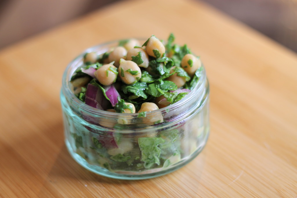 chickpea and cilantro