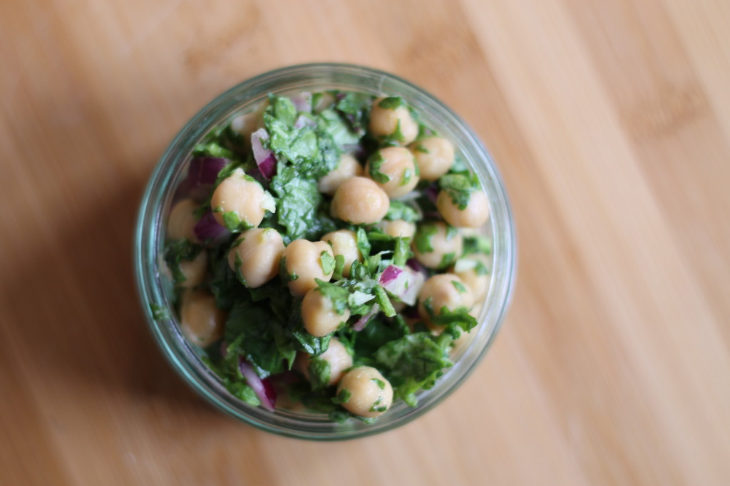 chickpea and cilantro side