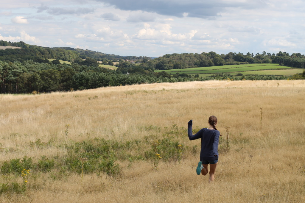 frolicking through fields