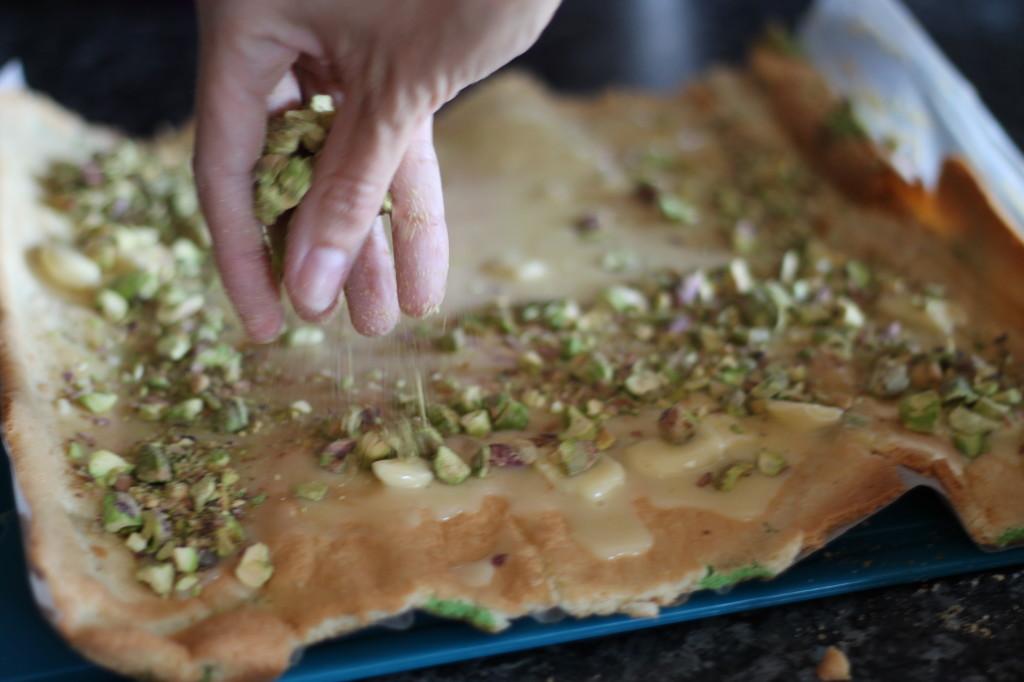 sprinkling pistachio