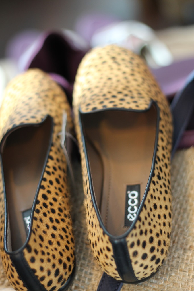 ecco leopard print shoes
