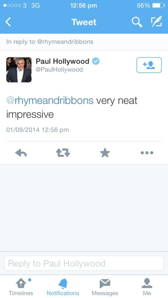 paul hollywood tweet