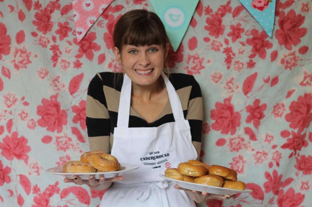 pleased baker