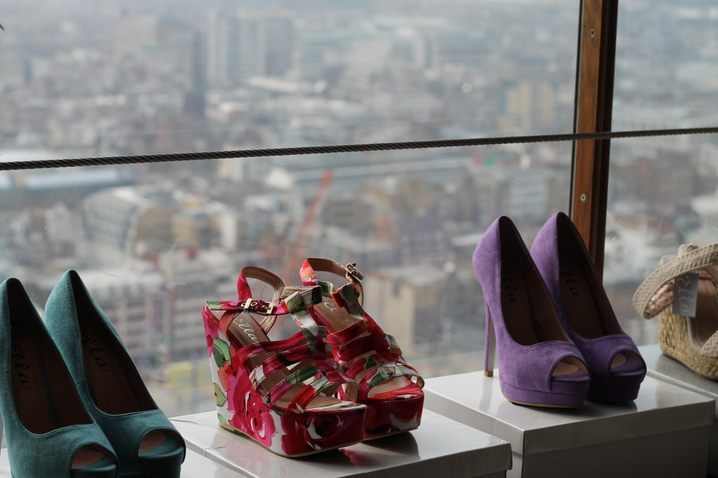 shoes and a view