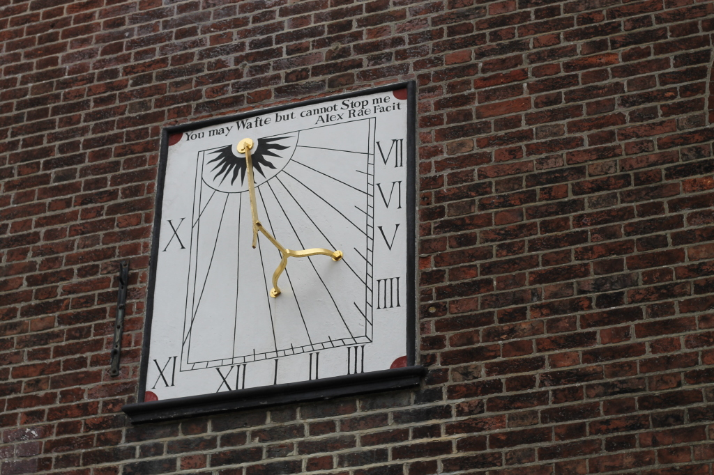 clock on church