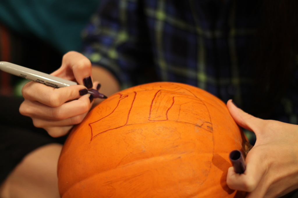 drawing pumpkin