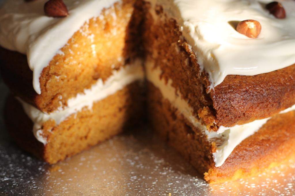 center of cake