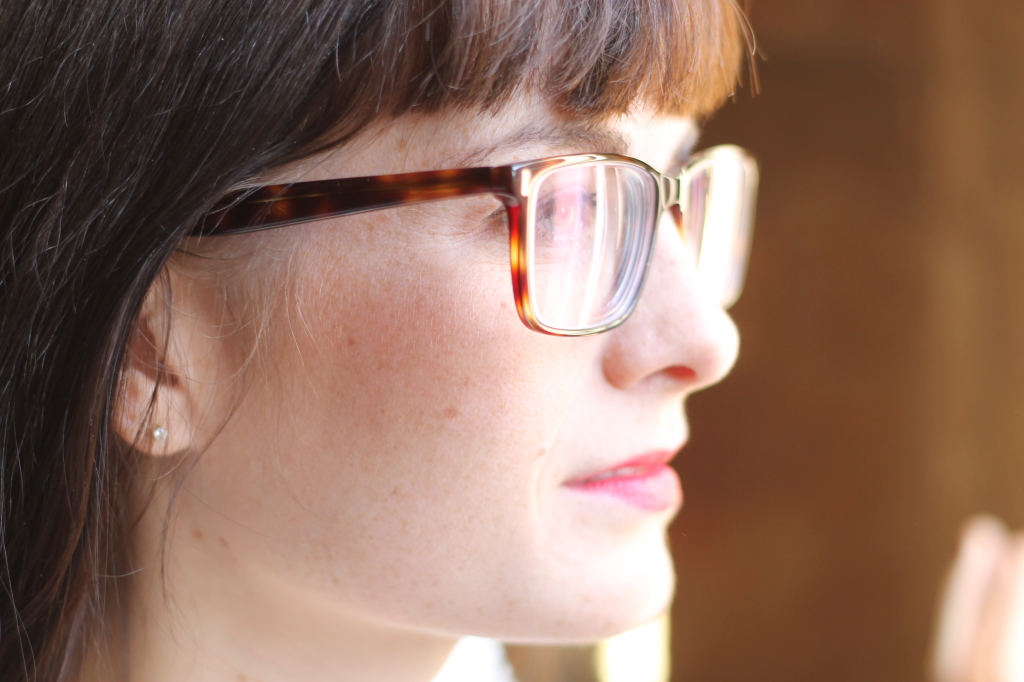 sideview of glasses light