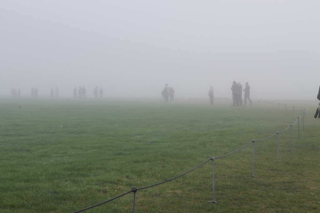 tourists in the mists
