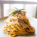 Creamy Sweet Potato Pasta with Fried Sage (Vegan)