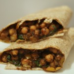 Channa Wrap Recipe (Vegetarian)