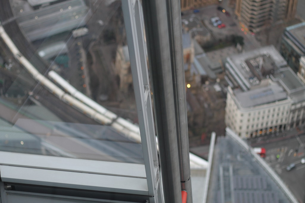 looking down from shard
