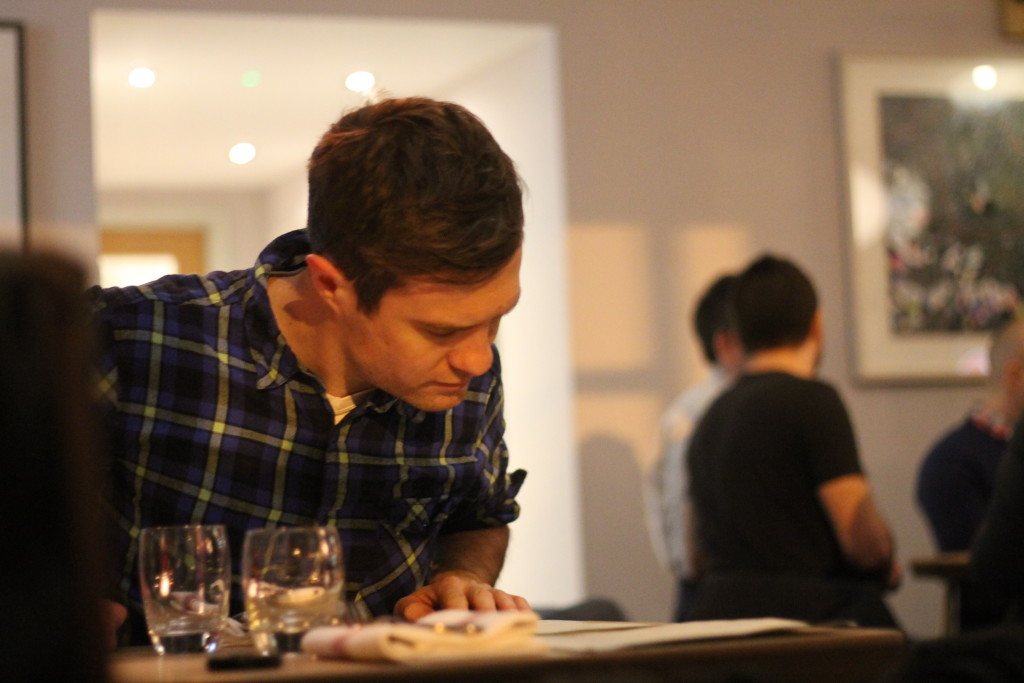 sam persuing the menu