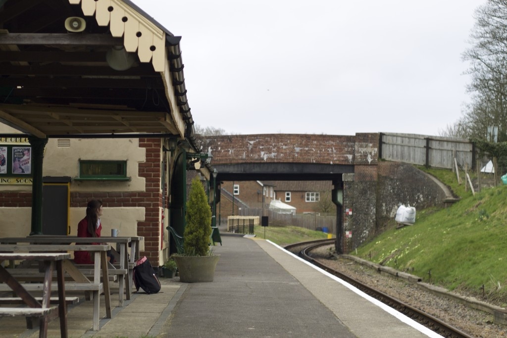 bridge over the tracks