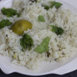 Basil Chicken Curry with Coconut Lime Rice