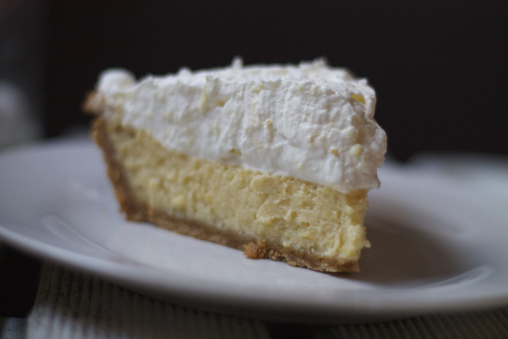 slice of lemon icebox pie