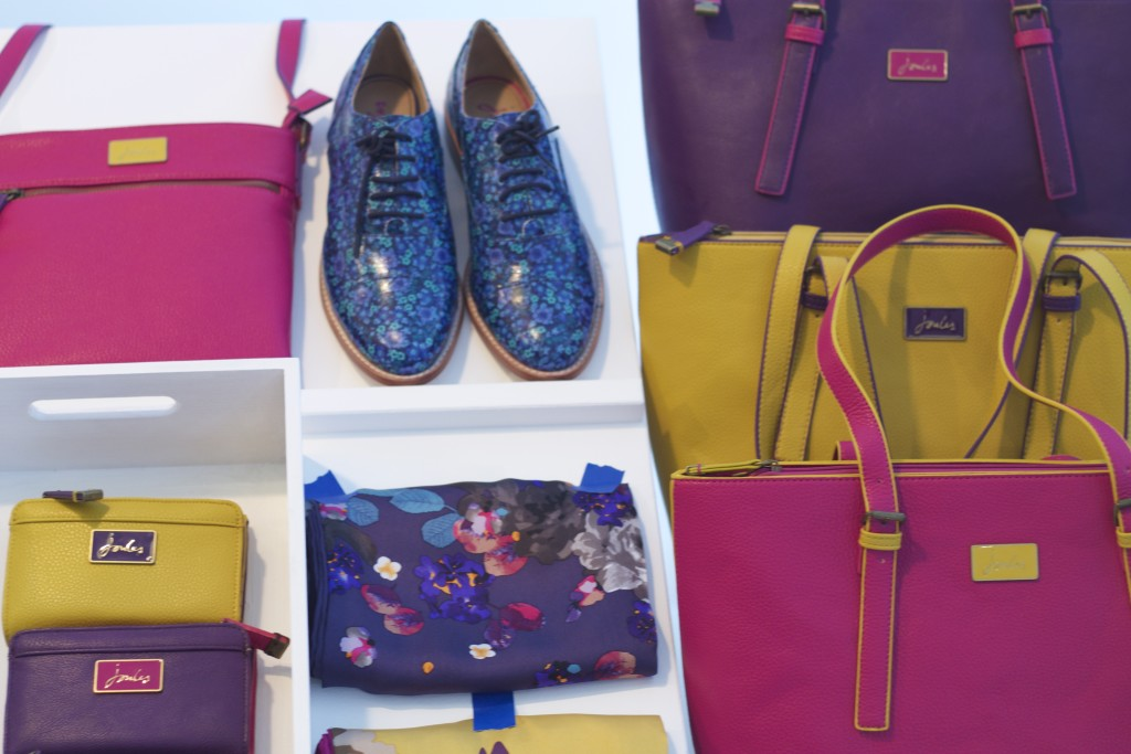 colourful shoes and bags