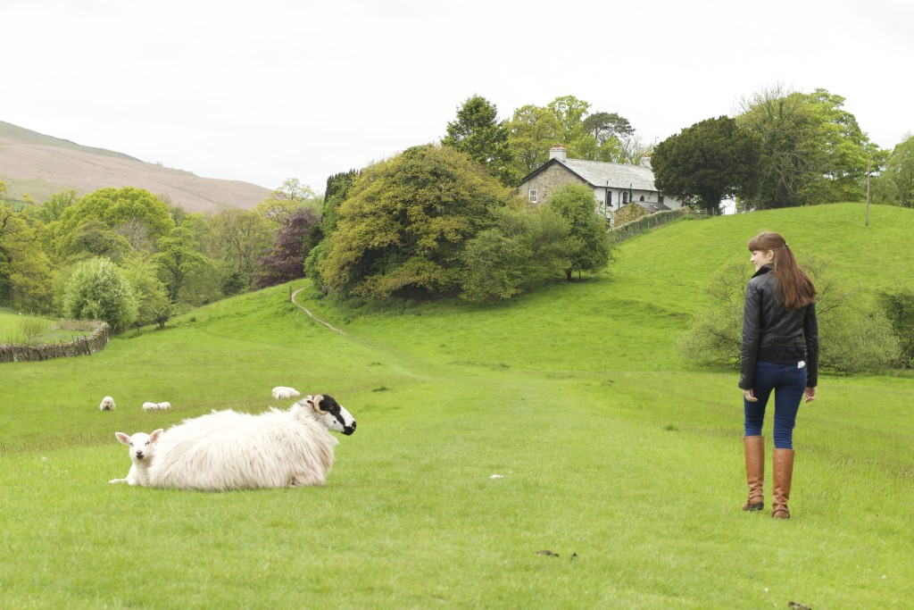 me with a sheep