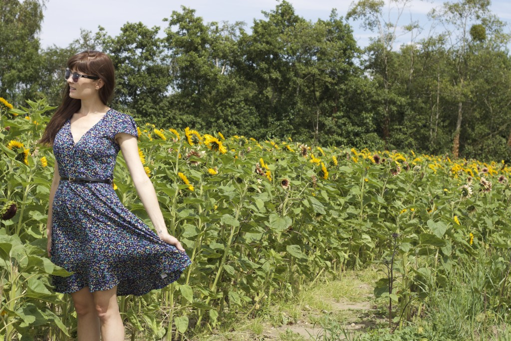 dress and sunflowers