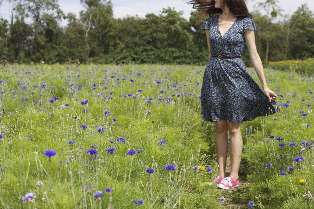 dress in lavender