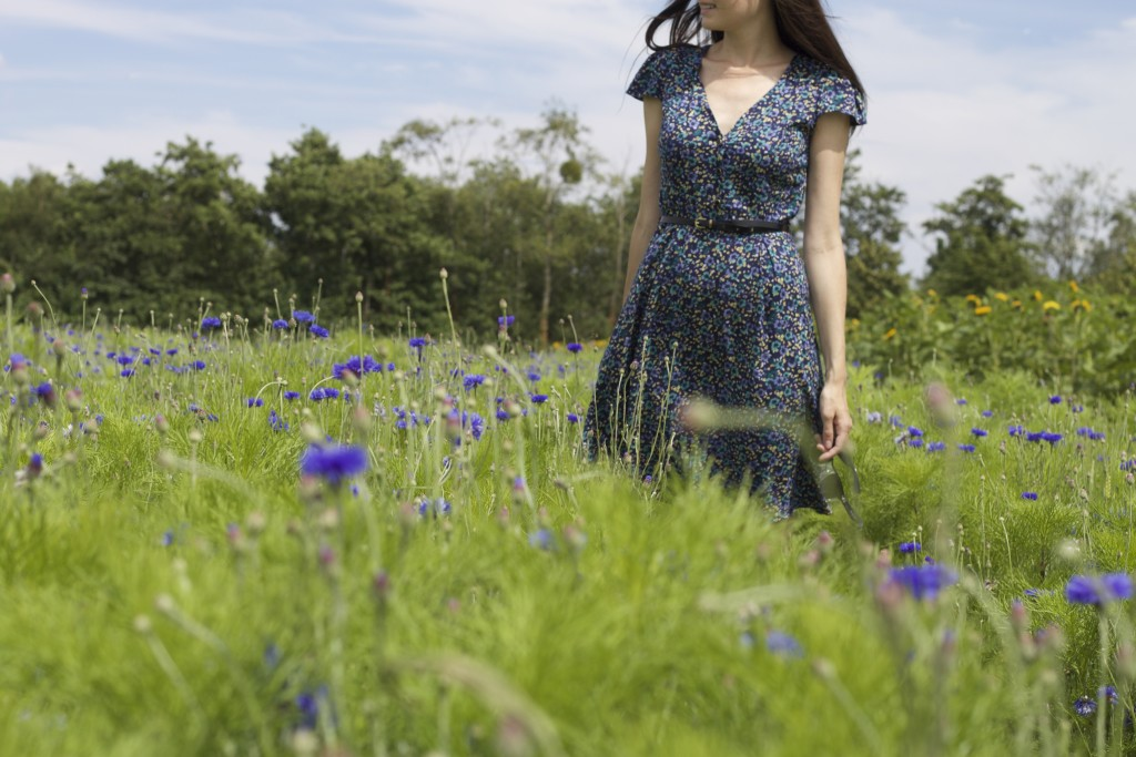 yumi dress in field