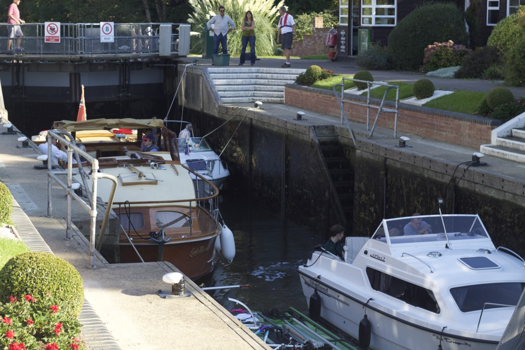 boats in the lock