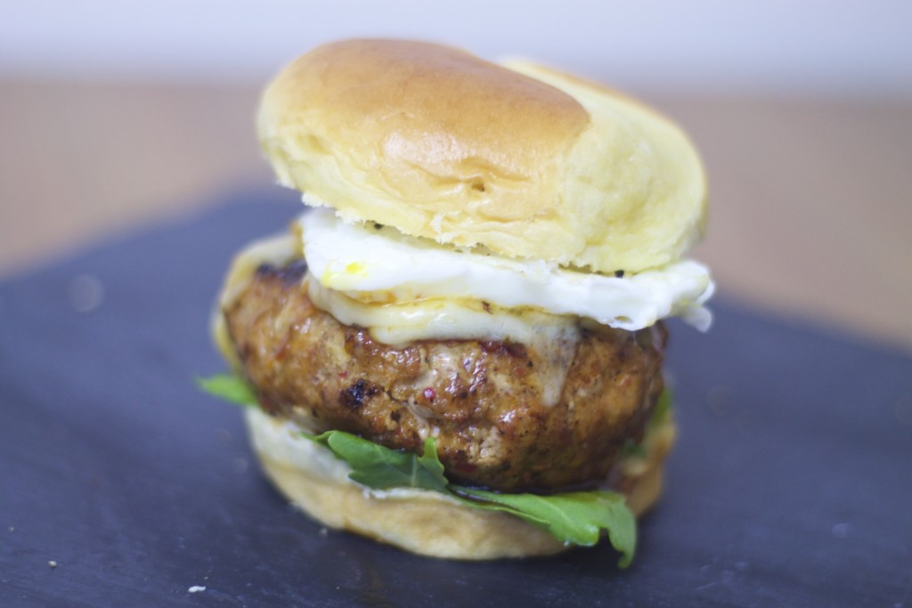 chorizo and egg burgers