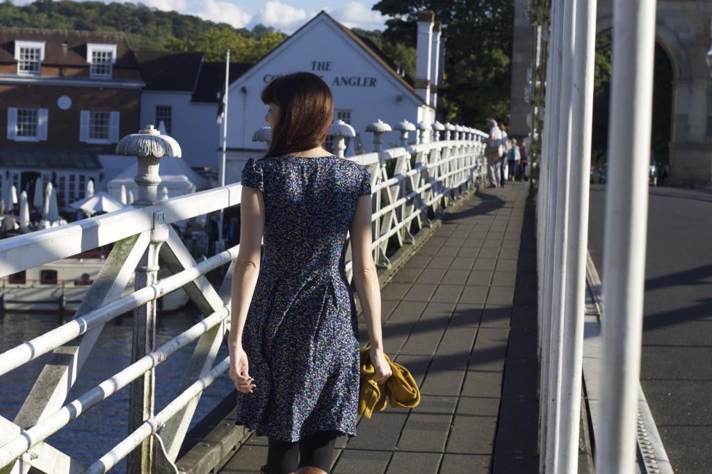 walking along river