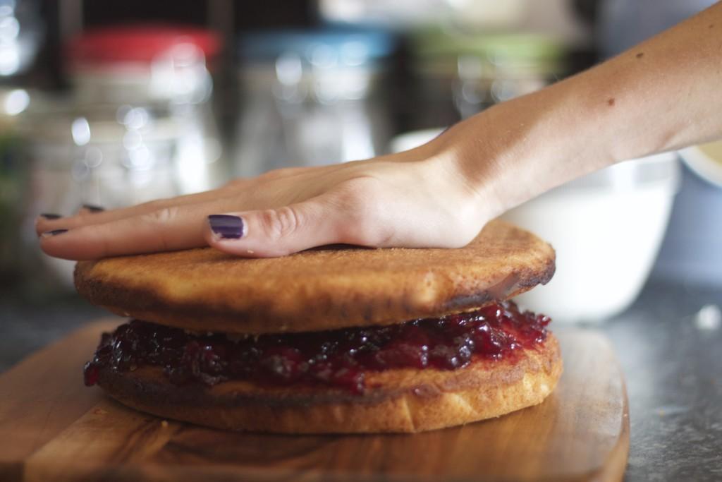 sandwiching layers