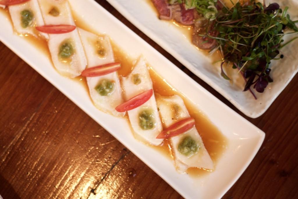 white tuna carpaccio