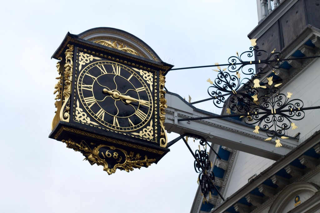 clock on the high street