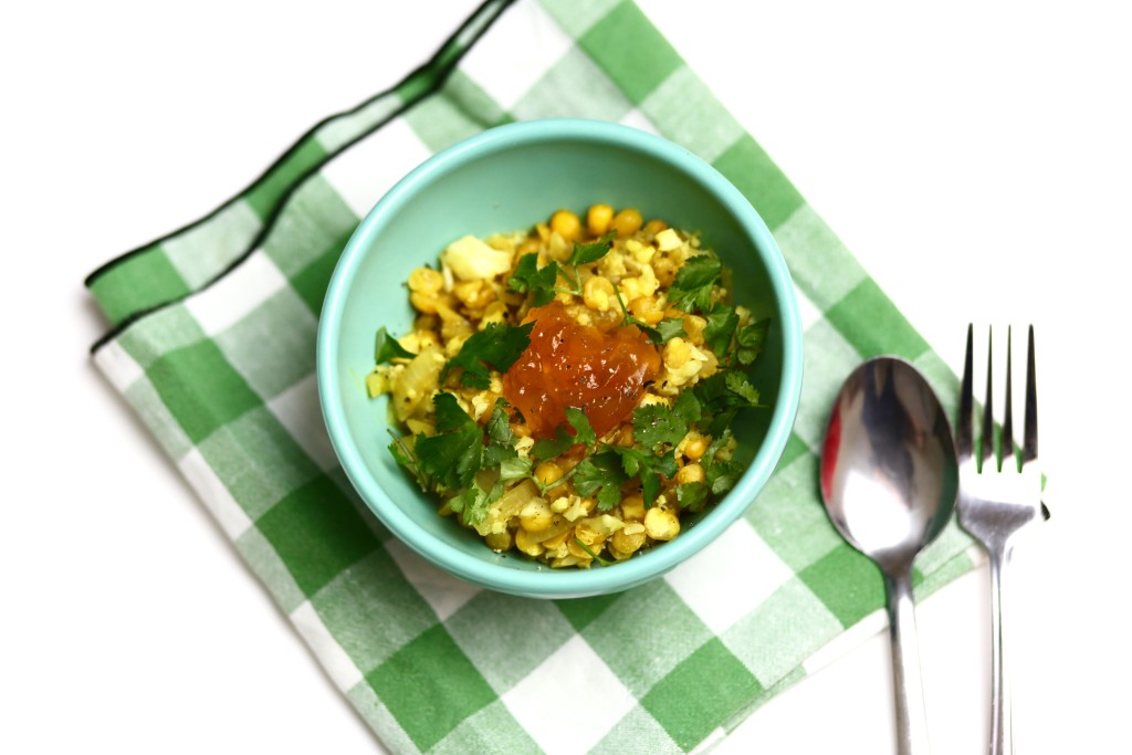 curry lentils and cauliflower