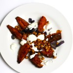Recipes || Roasted Sweet Potatoes and Chickpeas with Lime Yogurt