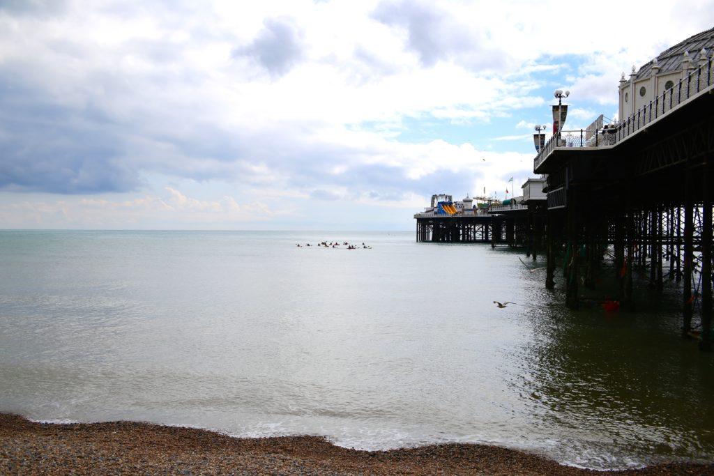 left side of pier