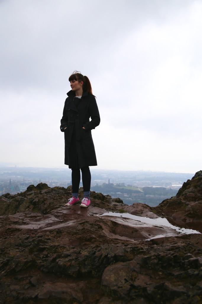 standing on peak