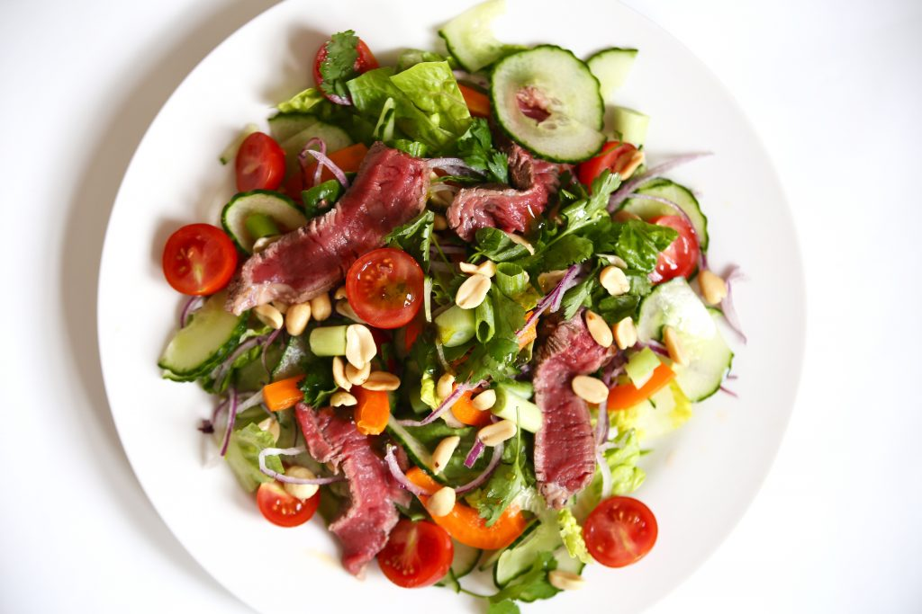 beef salad with meat lust