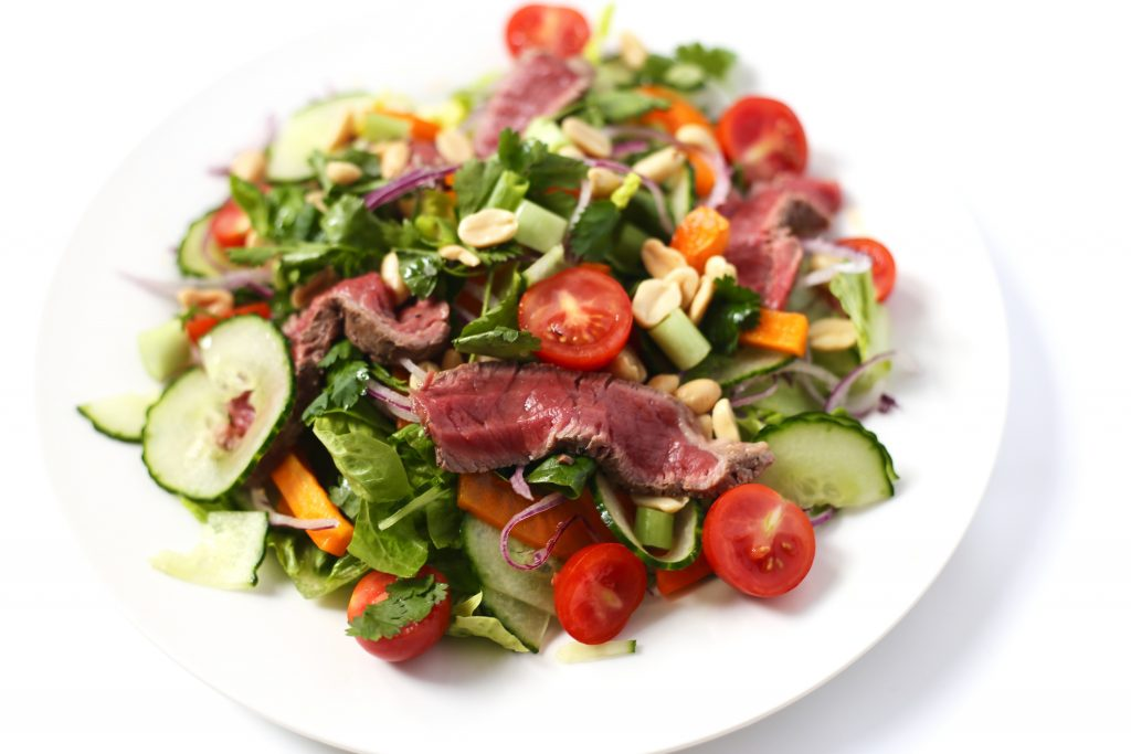 side thai beef salad