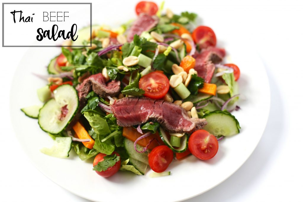 side thai beef salad pin
