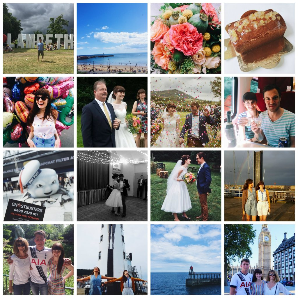 happy things wedding collage
